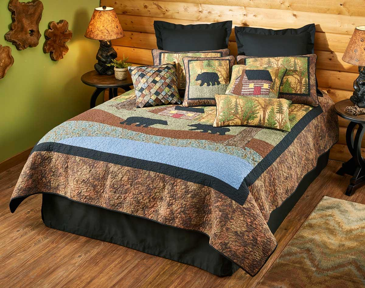 46994575SS:Little Log Cabin and Bears Bedding Collection