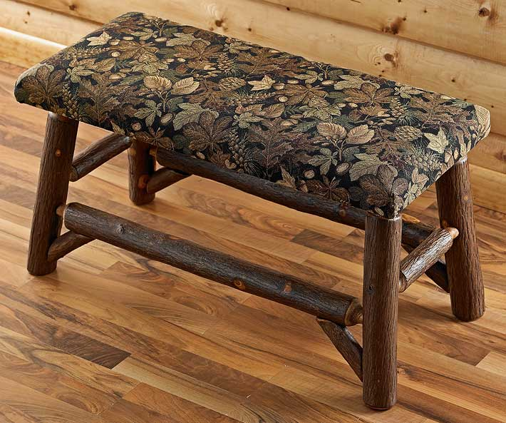 5637051005: Harvest Acorn Rustic Log Bench
