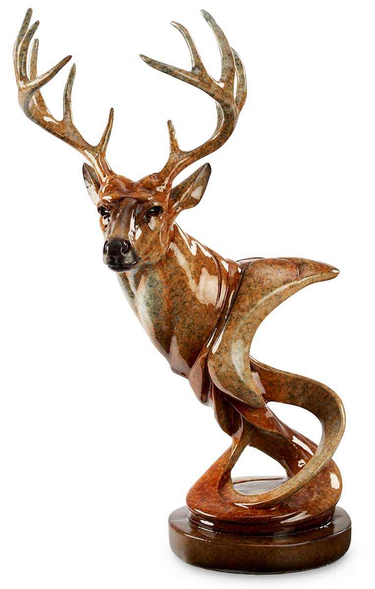 6567431165:&nbsp;<i>Look Out&mdash;Whitetail Deer;&nbsp;</i> Imago Sculpture