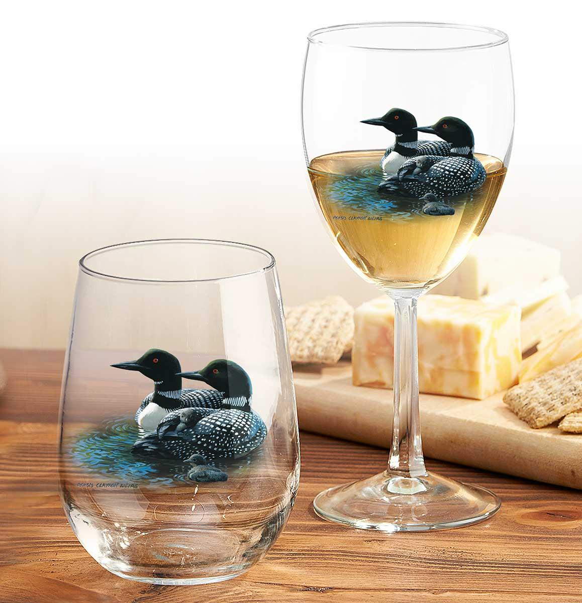 87227010SS:Loon Glassware Collection