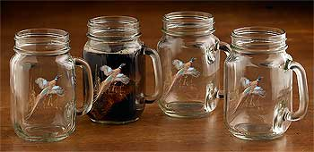 8722622509: Pheasant Jar Mugs (Set of 4)