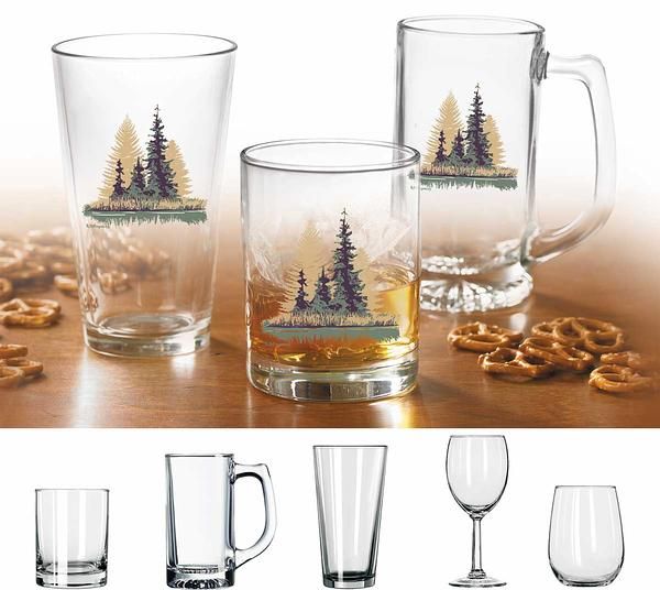 87227189SS: Misty Forest Glassware Collection