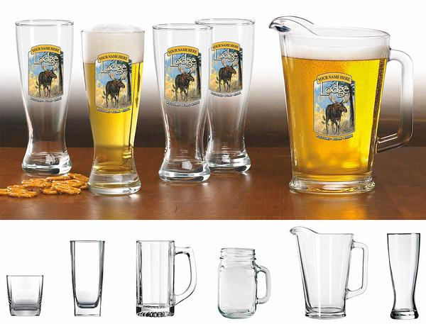 87226155SS: Moose Lodge Personalized Glassware