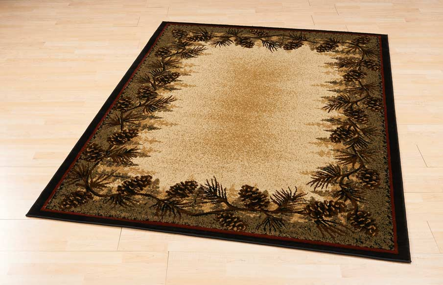 44655191SS: Mountain Pinecone Area Rug Collection