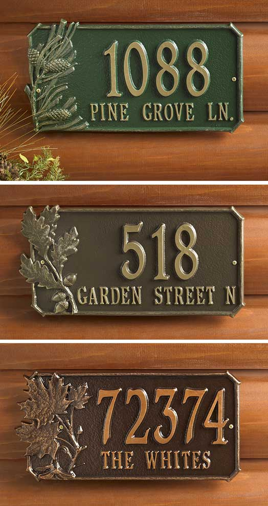 5960044089IG: Leaves Address Plaque Collection