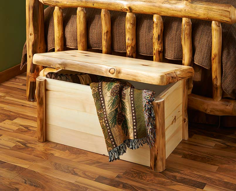 5611107302: Natural Log Corral Storage Chest
