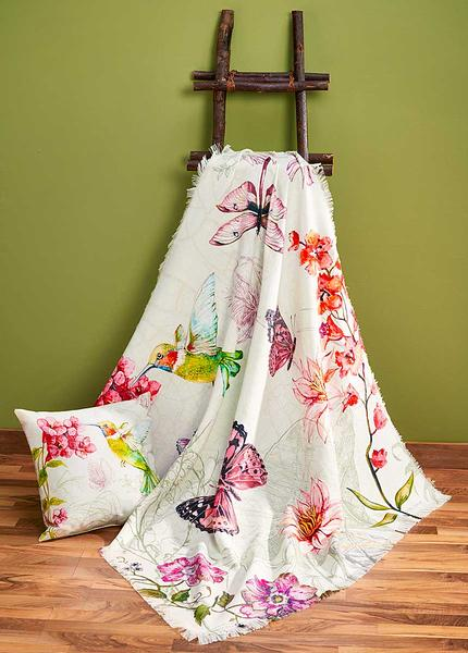 4549528501:Nature's Grace—Butterfly and Dragonfly Throw Blanket