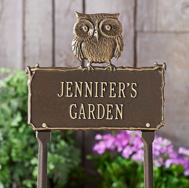 4960243001: Owl Personalized Garden Sign