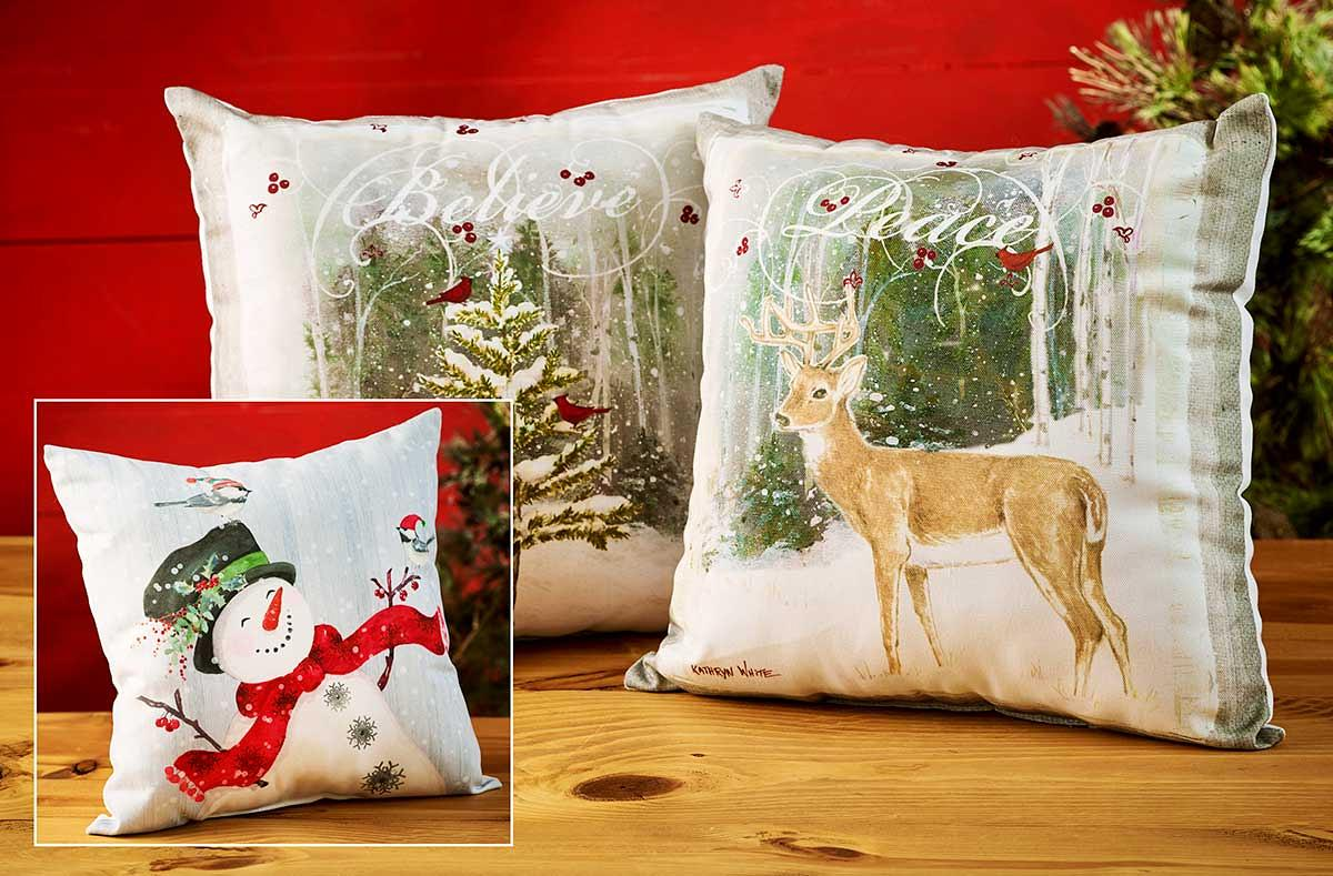41436315DD: Peaceful Holiday Pillow Collection