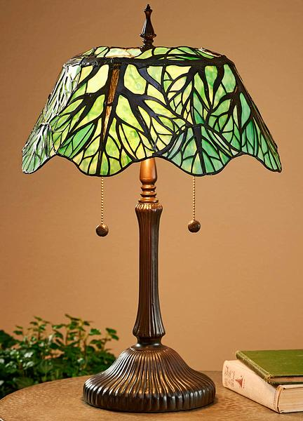 5192607500: Tranquil Forest Tiffany-style Table Lamp