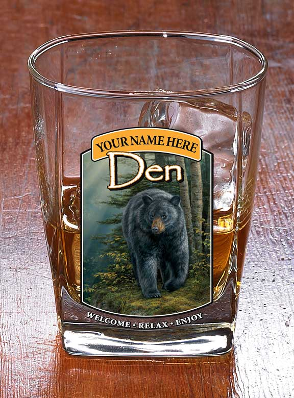 8722615902: Bear Den—Black Bear Personalized DOF Glasses (Set of 4)