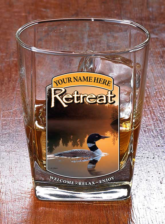 8722616002: Loon Retreat Personalized DOF Glasses (Set of 4)