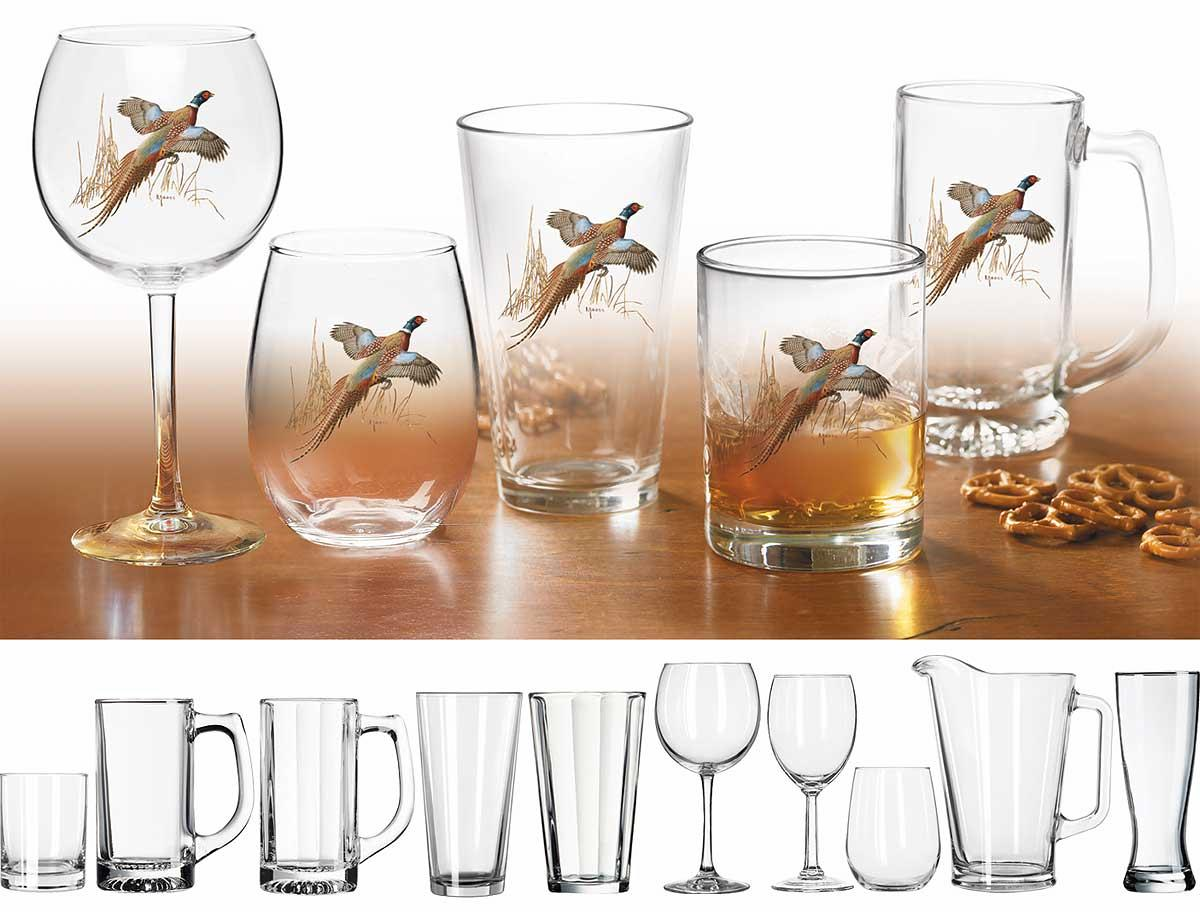 87226225SS:Pheasant Glassware Collection