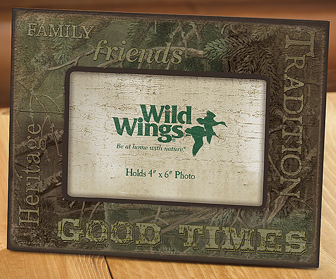 4373231691: Pine Camouflage Scenic Picture Frame