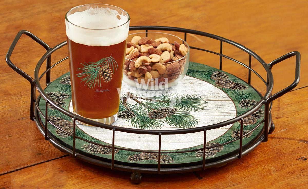 4209102002: Pinecone Serving Tray