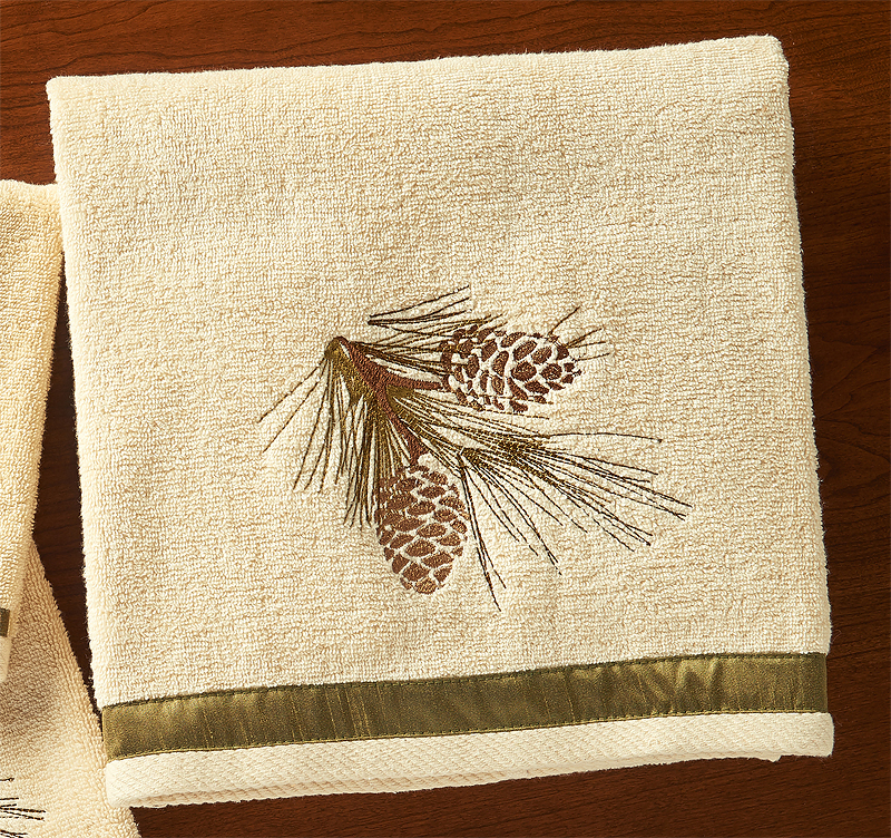 4047619212: Pinecone Forest Bath Towel