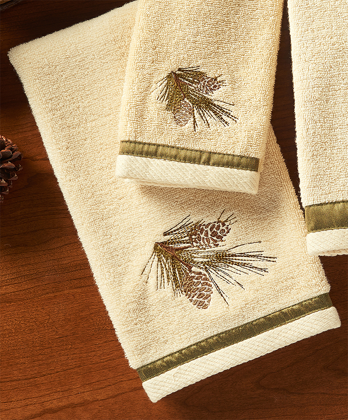4047619213: Pinecone Forest Hand Towel