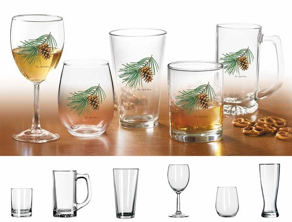 87227091SS: Pinecone Glassware Collection