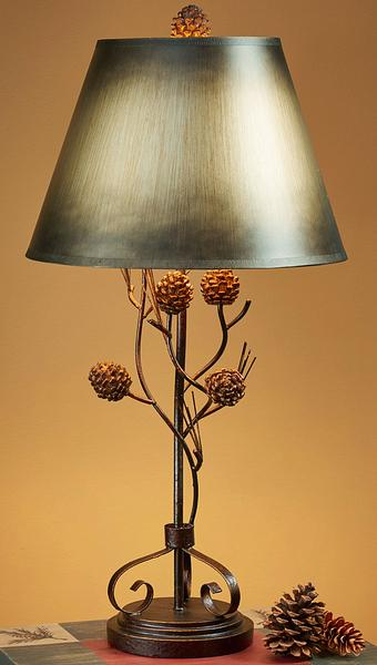 5250611591: Pinecone Iron Twig Table Lamp