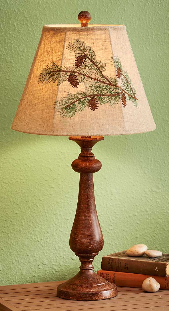 5073629502: Pinecone Table Lamp