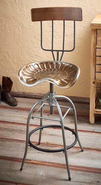 5149621580: Pitch Fork & Tractor Swivel Stool