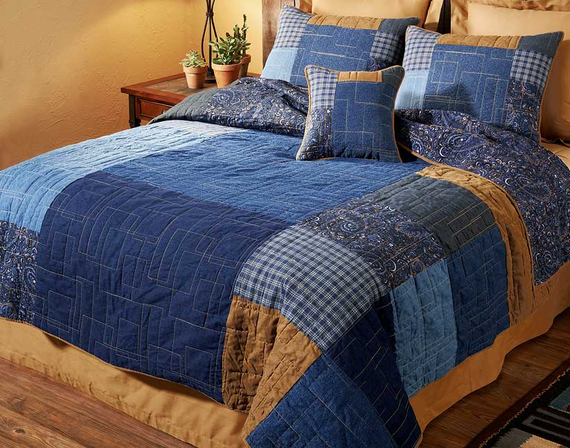 46991382DD: Denim Square Bedding Collection