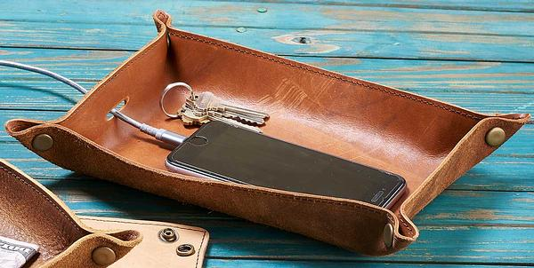 4480661504:Reclaimed Leather Tray (Large)