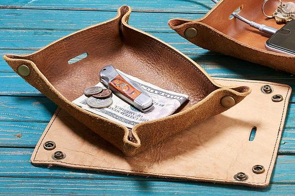4480661503: Reclaimed Leather Tray (Small)