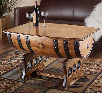 5202041503:Reclaimed Whiskey Barrel Coffee Table