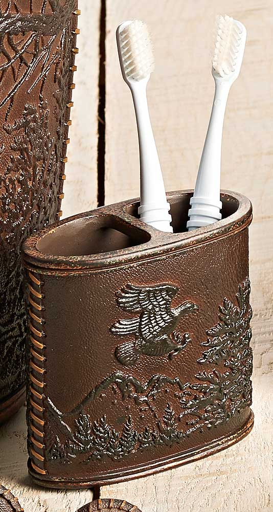4245687701: Rustic Montage Toothbrush Holder