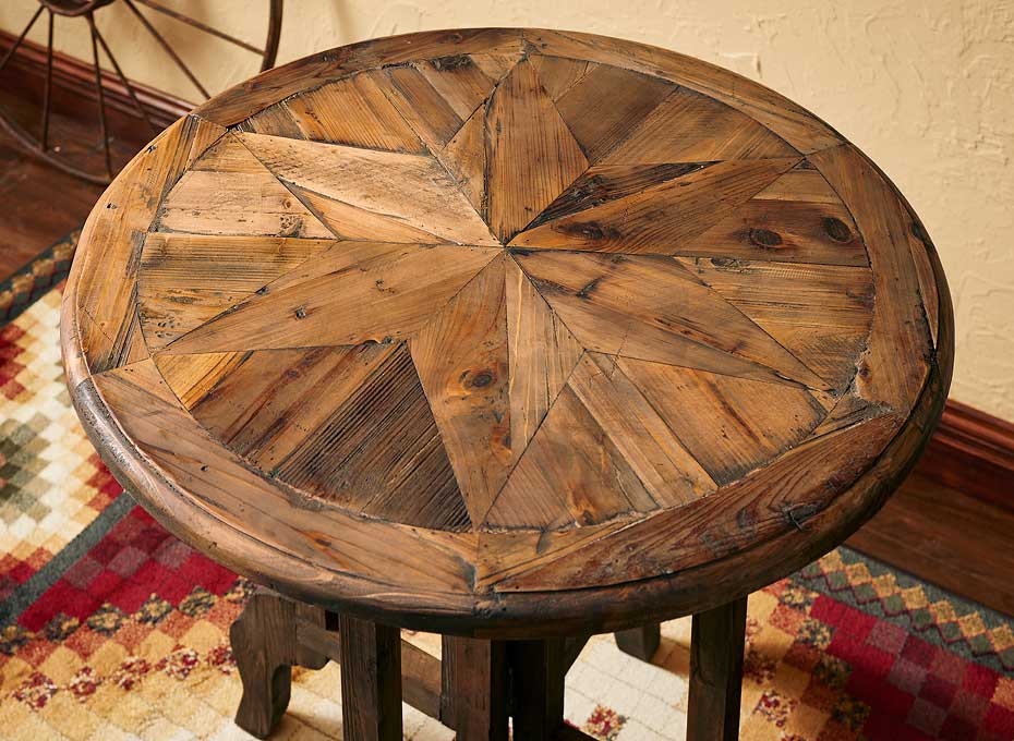5907348201: Rustic Retreat Accent Table