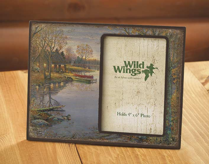 4373231577:Evening Cabin Scenic Picture Frame