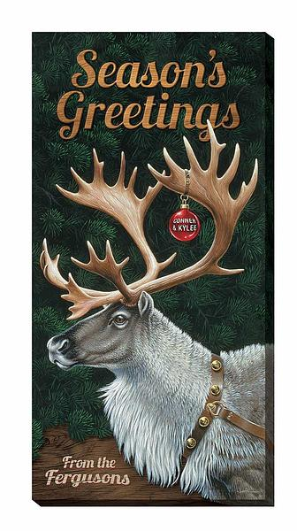F028665066:&nbsp;<i>Season's Greetings;&nbsp;</i> Personalized Wrapped Canvas