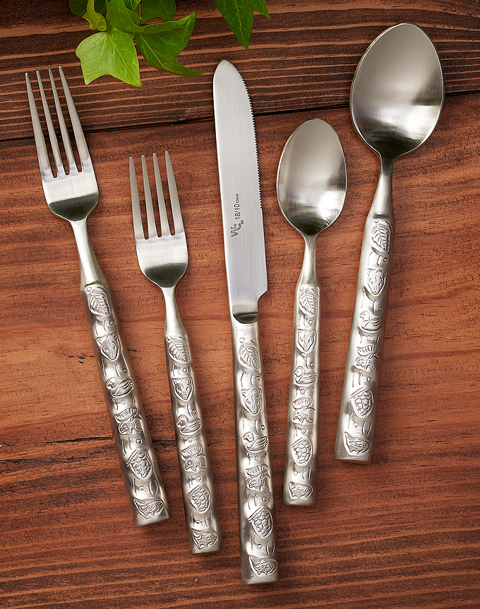 8944867701: Signs of Nature Silverware Set (Set of 20)