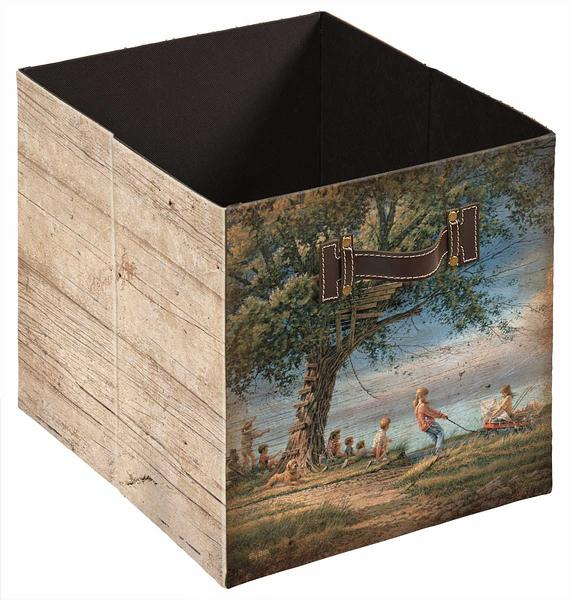 4084003304: Spring Fever Folding Storage Bin