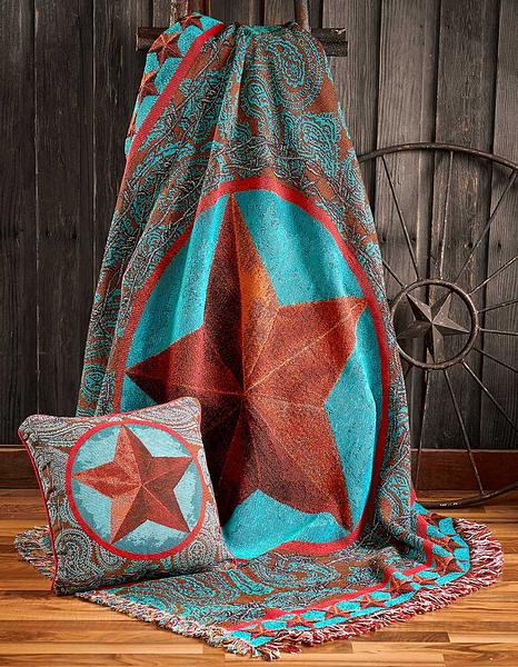 4549861001: Star of the West Throw Blanket