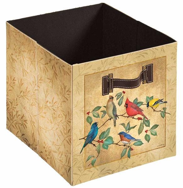 4084003009: Summer Birds I Folding Storage Bin