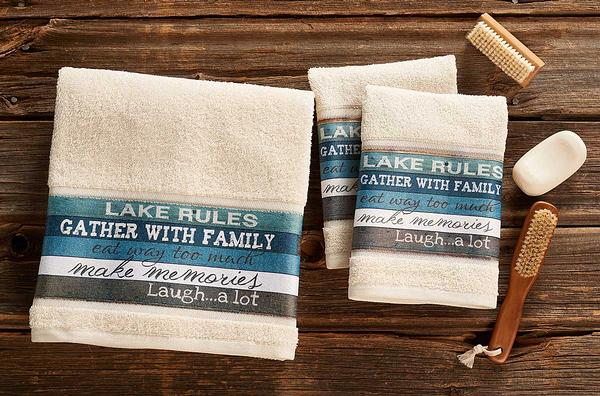 4423727701IG: Lake Rules Bath Collection