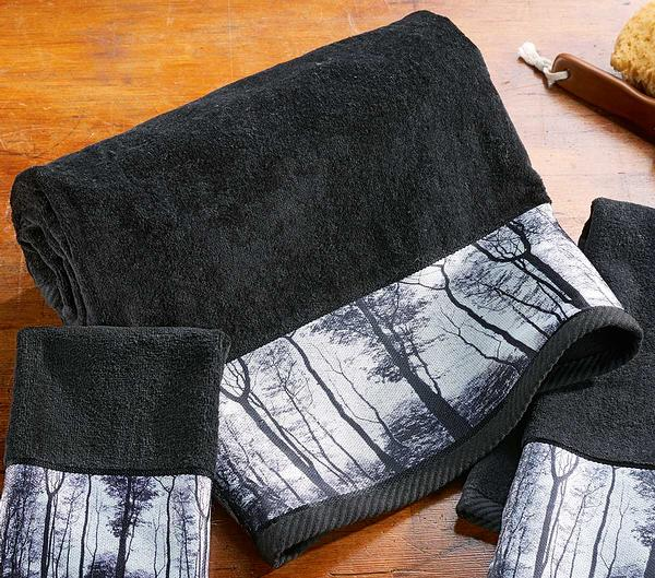 4245728912: Mystic Forest Bath Towel