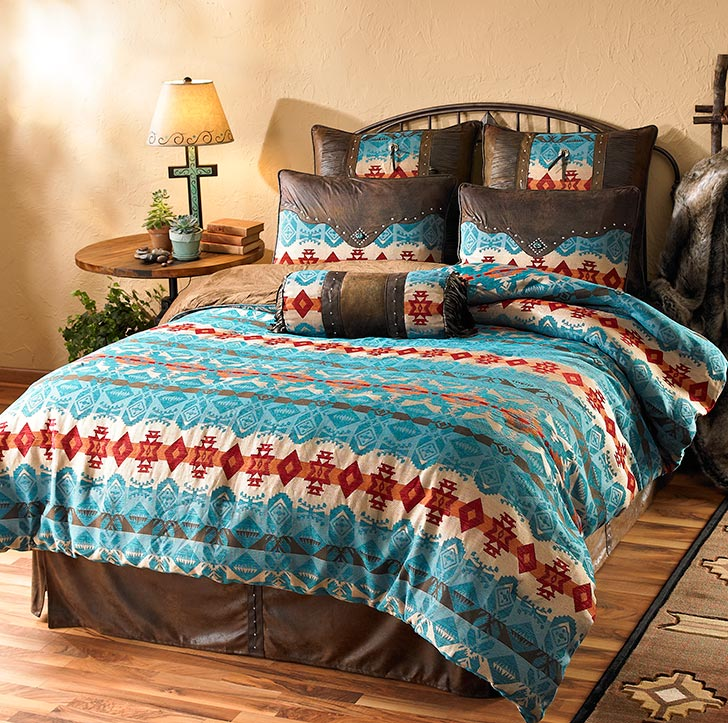 4140768201IG: Turquoise Cimarron Bedding Collection