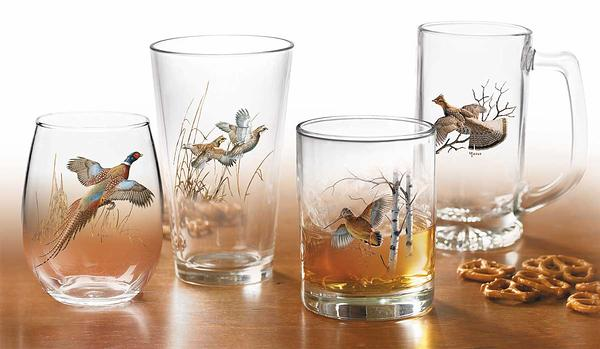 87227615SS: Upland Gamebirds Glassware Collection