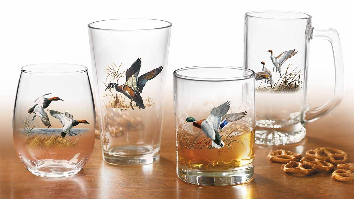 87227616SS: Waterfowl Glassware Collection