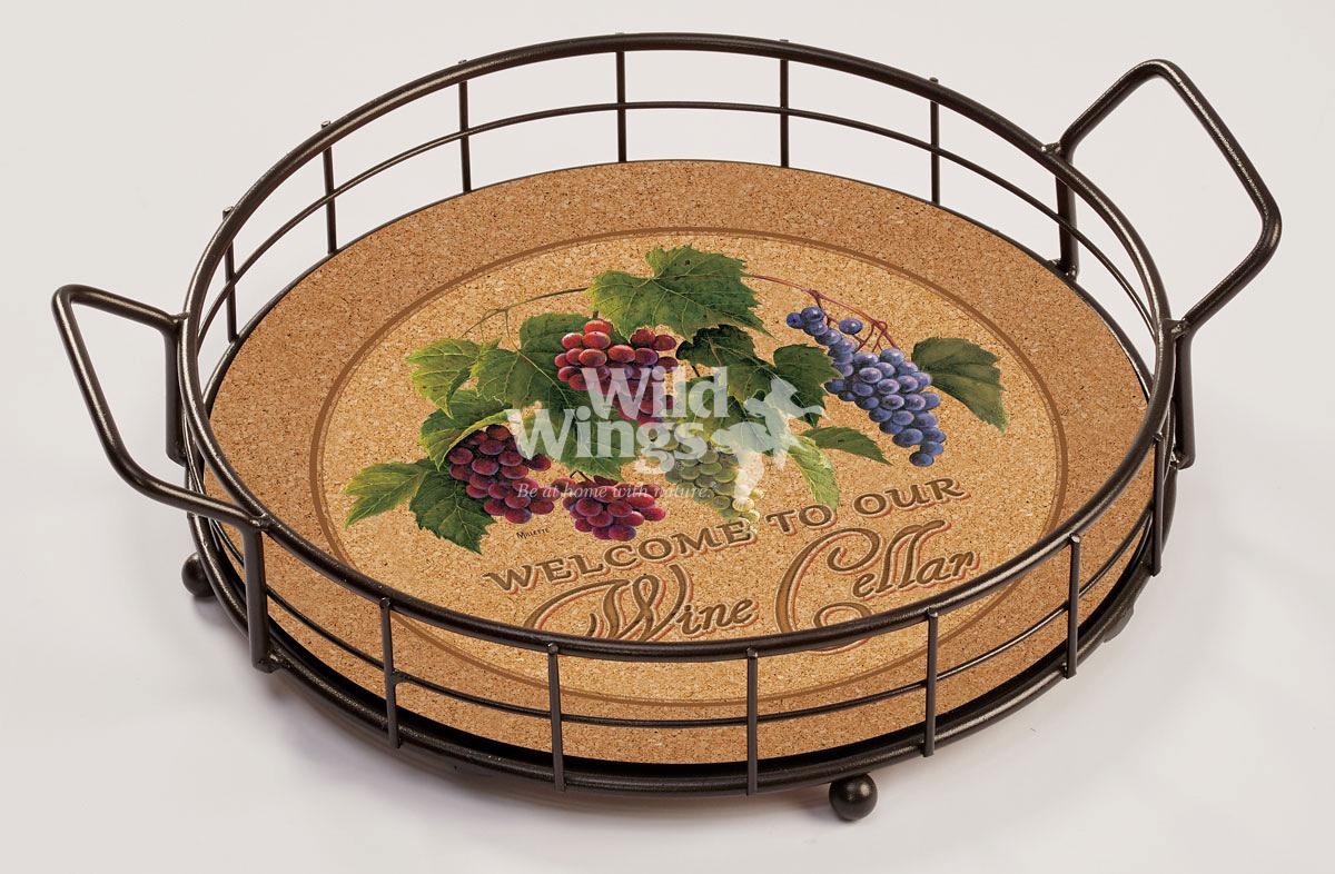 4209102005: Welcome Wine Cellar—Grape Vine Serving Tray