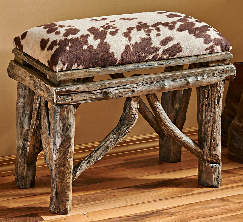 5907108202: Western Cowhide Bench