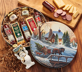 4292872700: Wild Game Sausage and Cheese Meat Gift Set