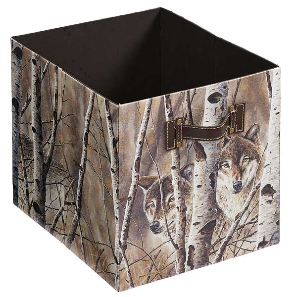 4084003006: Wolves Folding Storage Bin