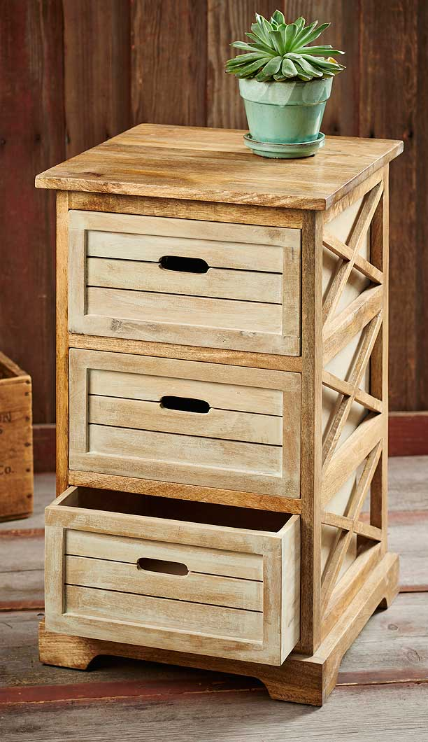 5085287701: Wooden Crate Side Table