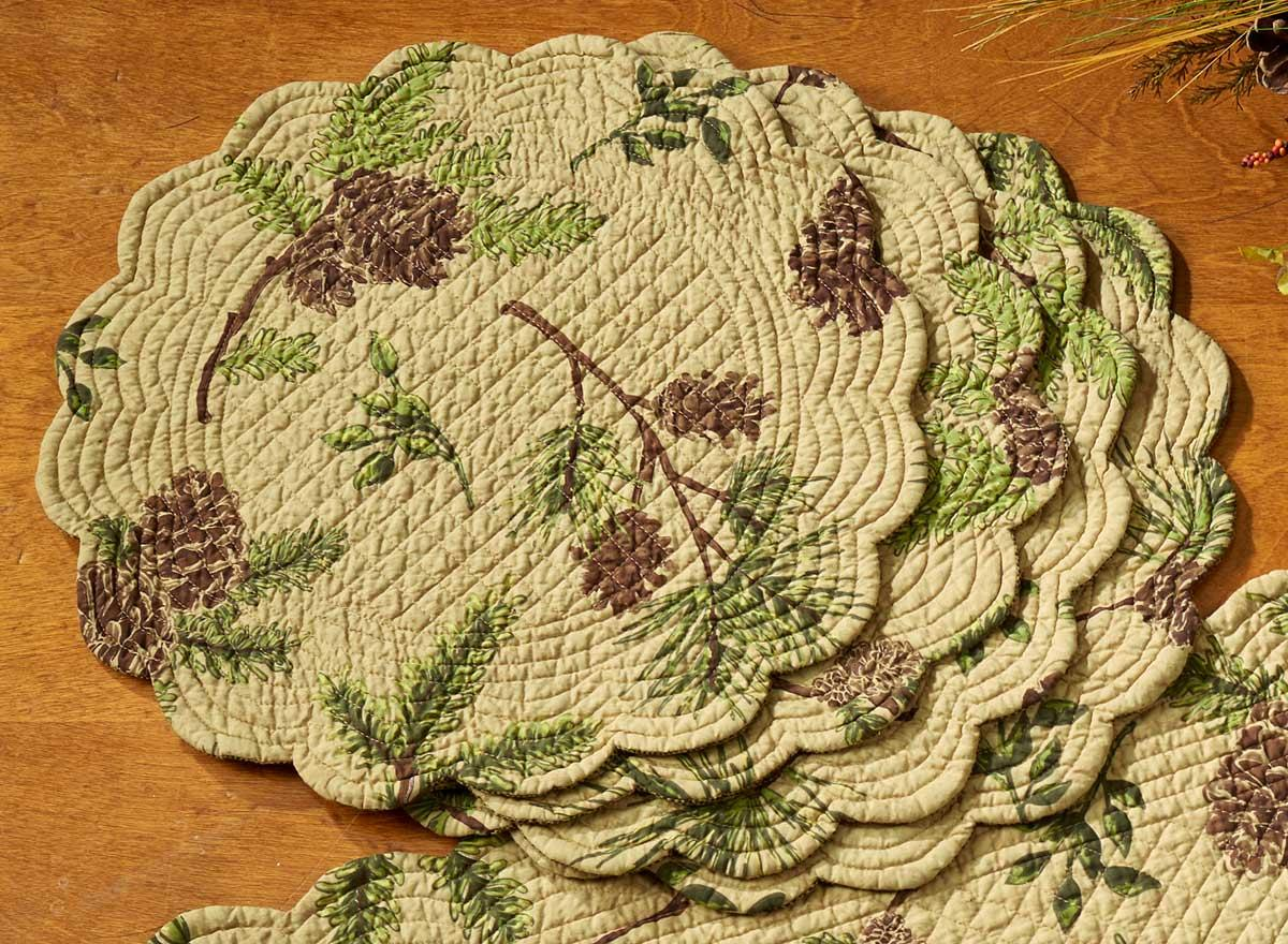 4143879113: Pine Lodge Round Placemats