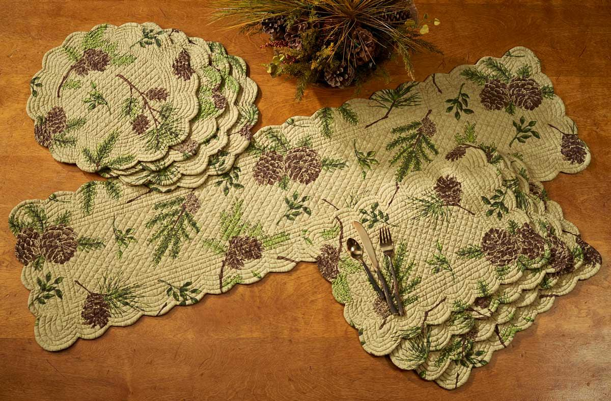 41438791SS: Pine Lodge Table Linens