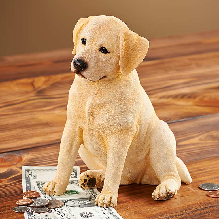 4598485631: Daisy—Yellow Lab Coin Bank
